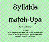 Syllable Match-Up Activity