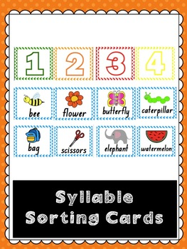 Syllable Matching Cards
