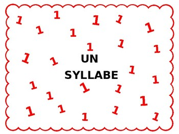 Syllable Mats FRENCH