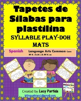 Syllable Mats Play Doh Tapates de silabas  Bilingual Stars Mrs Partida