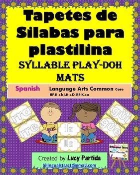 Syllable Mats Play Doh Tapates de silabas  Bilingual Stars
