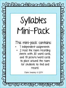 Syllables Mini-Pack