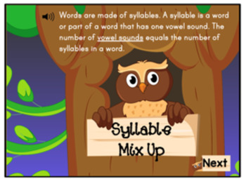 Syllable Mix Activity Digital Boom Task Cards