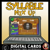 Syllable Mix Activity Digital Boom Task Cards