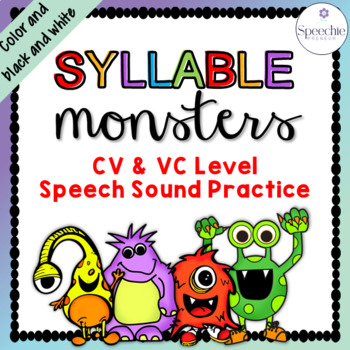 Syllable Monsters - CV & VC Level Speech Sound Practice
