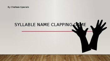 Syllable Name Clapping Transition Activity
