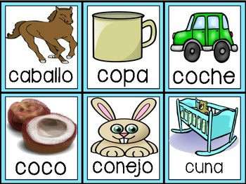 Syllable Pack in Spanish: Cc & Qq