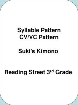 Syllable Pattern CV/VC Pattern  Suki's Kimono    Reading Street 3rd Grade