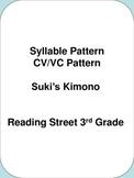Syllable Pattern CV/VC Pattern  Suki's Kimono    Reading S