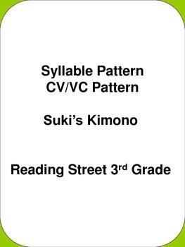 Syllable Pattern CV/VC Pattern Suki's Kimono Reading Stree