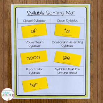 Syllable Pattern Posters and Syllable Cards