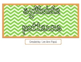 Syllable Patterns Anchor Chart/Signs