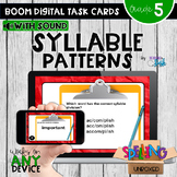 Syllable Patterns Boom Cards - Distance Learning