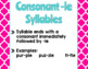 Syllable Patterns Poster Sets