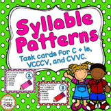 Syllable Patterns Task Cards for C + le, VCCCV, and CVVC