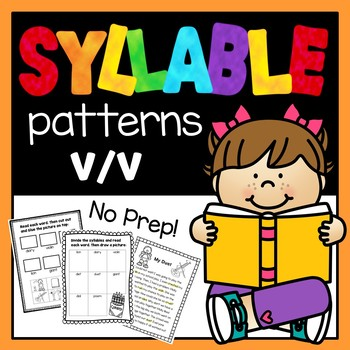 Syllable Patterns: V/V worksheets and decodable story