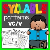 Syllable Patterns: VC/V worksheets and decodable story