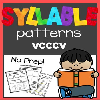 Syllable Patterns: VCCCV worksheets and decodable story