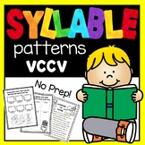 Syllable Patterns: VCCV worksheets and decodable story