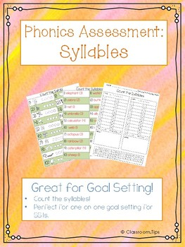 Syllable Phonics Assessment