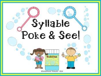 Syllable Poke & See Game