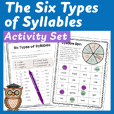 Six Types of Syllables: Posters, Centers, Printables & Dig