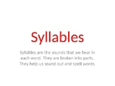 Syllable Powerpoint