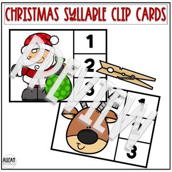 Syllable Practice Clip Card Activity GROWING BUNDLE