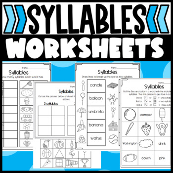 Syllable Practice: Cut and Paste, Game, Worksheets