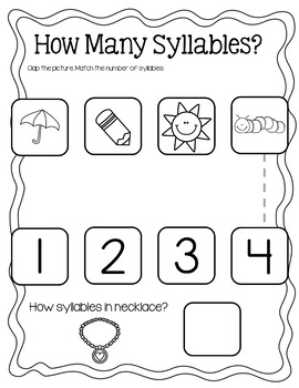 Syllable Practice Pages