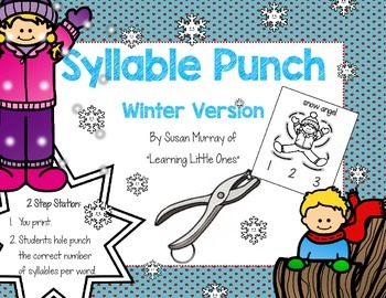 Syllable Punch for Winter Words