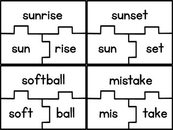 Syllable Puzzles- 2 syllable words