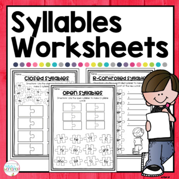 Syllables Puzzles for Literacy Centers