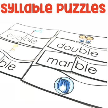 Syllable Puzzles | Syllable Activities