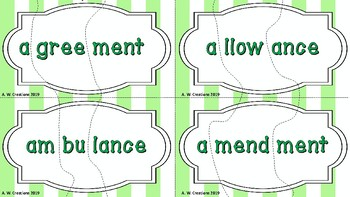 Syllable Puzzles Set 2