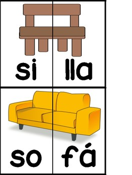 Syllable Puzzles in Spanish