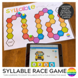 Syllable Race Game with BOOM Cards | Distance Learning