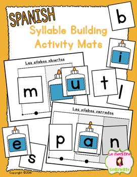 Syllable Reading: Syllable Building Mats (Spanish)