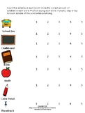 Syllable Reduction: School Supplies Theme