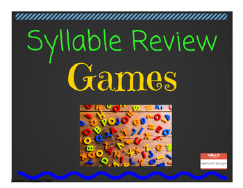 Syllable Review Game