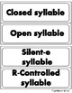 Syllable Review Sort  Set 1