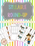 Syllable Round-Up: A phonics, syllable sorting center