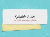 Syllable Rules PowerPoint and Printable