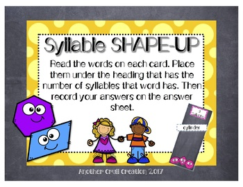Syllable SHAPE-UP