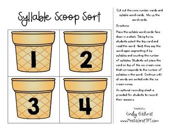 Syllable Scoop Sort