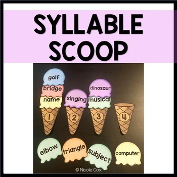 Syllable Scoops - Syllable Sort