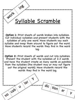Syllable Segmentation