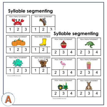Syllable Segmenting Activities