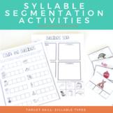 Syllable Segmenting Activities