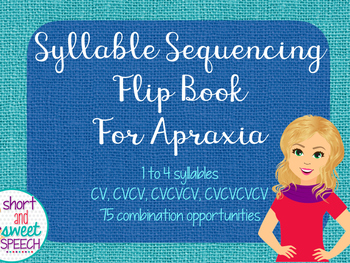 Syllable Sequencing Flip Book for Apraxia